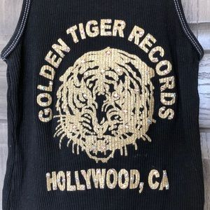 Tops - My Blinged Out Golden Tiger Records Hollywood Tank